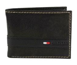 Tommy Hilfiger Men's Leather Credit Card Id Wallet Billfold Black 31TL22X023 image 3