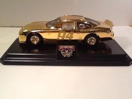 Nascar #94 50th Anniversary 24k Gold Plated BILL ELLIOTT - 1:24 on Stand... - $12.85