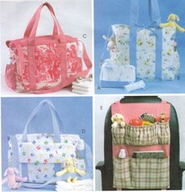 Baby Nursery Diaper Toiletry Tote Bag Change Pad Car Organizer Sew Pattern - $13.99