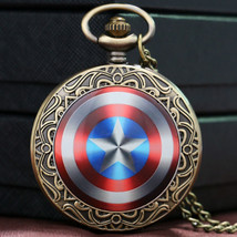 Captain America Shield Weapon The First Avenger Steve Rogers Pocket Watc... - $11.10