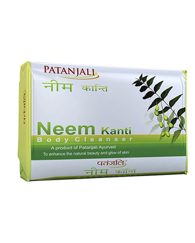 PATANJALI NEEM KANTI BODY CLEANSER/Bar Soap - (150GM)