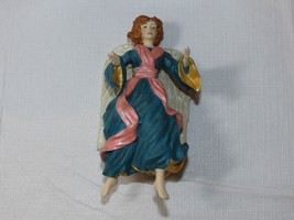 HALLMARK Keepsake Ornament 1996 Glad Tidings Angel Joyce Lyle blue pink white - $11.87