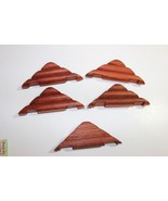 "Lot of 5 roof pieces Wooden Lincoln Logs 5"" long round 2 knotch to build... - $19.95"