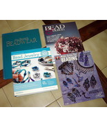 Lot (4) BEADWEAR  / BEAD JEWELRY Instruction Books & Magazines (+1 DVD) ... - $24.40