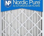 Nordic Pure 19 1/2 x 24 1/2 x 3 5/8 AC Furnace Air Filters MERV 12, Box of 2