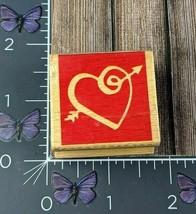 Stampcraft Swirl Heart Arrow Rubber Stamp 440D42 Wood #AK90 - $2.72
