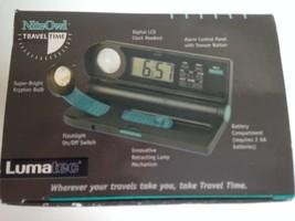 Compact Travel Digital Alarm Clock Mini Lamp Flashlight 3 in 1 Travel Ki... - €11,07 EUR