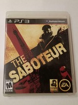 THE SABOTEUR (PlayStation 3 Game, 2009) PS3 Complete in Box (CIB) - Tested - $15.00