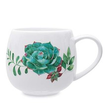 Succulent Ceramic Coffee Mugs, 13oz Cute Succulent Coffee Mug Teacup Per... - $19.36