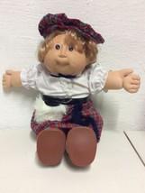 Cabbage Patch Doll W Plaid Kilt Faux Fur Outfit '82 '86 Xavier Roberts Vtg - $27.95