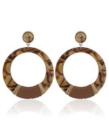 by MODERN Formica Dangle Statement Earrings for Women Brown - $15.03