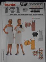Dress and Jacket Size 6-18 Burda 8061 Sewing Pattern - $10.88