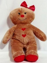"""Build A Bear Gingerbread Girl Plush 16"""" Stuffed Toy Bow And Hearts HOLID... - $17.63"""