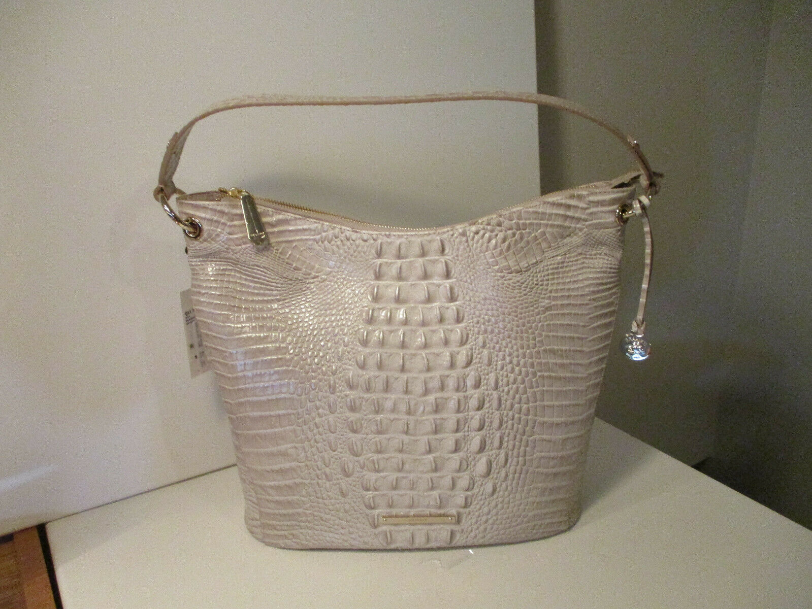 Primary image for Authentic Brahmin Sevi Seashell Melbourne Shoulder Bag Embossed Leather NWT