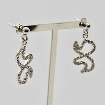 925 STERLING SILVER PENDANT EARRINGS BUTTERFLY WINGS MADE IN ITALY  MARIA IELPO image 4