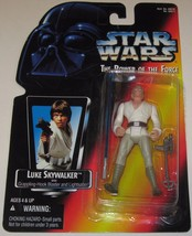 Vintage Kenner Star Wars Action Figure Power Of The Force Long Lightsaber Luke - $15.83