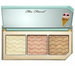 Too Faced Triple Scoop Hyper-Reflective Highlighting Trio Palette NIB AUTHENTIC  - $24.99