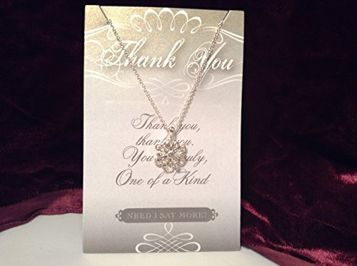 Thank You Crystal Snowflake Necklace with Gift Card