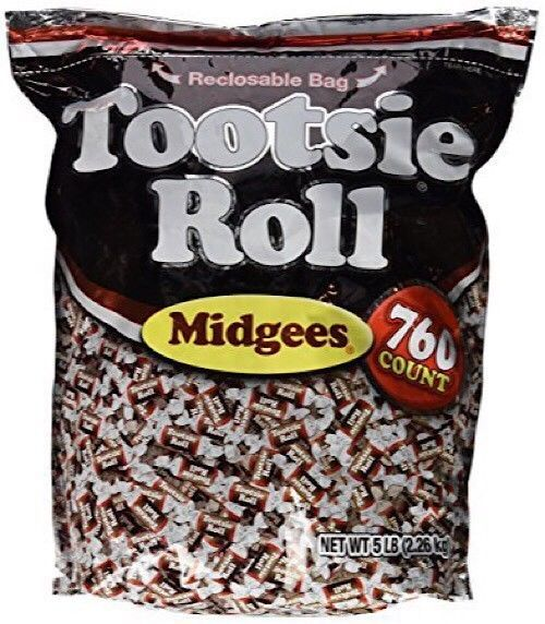 Tootsie Roll Midgees Candy 5 Pound Value Bag 760 Pieces - Pack of 3 - $39.55