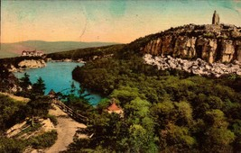 VINTAGE POSTCARD- LAKE MOHONK MOUNTAIN  HOUSE & SKYTOP FROM EAGLE CLIFF,... - $3.19