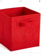 NIP Collapsible Fabric Storage Bin Red Box - $9.49