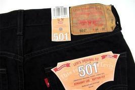 NEW LEVI'S 501 MEN'S ORIGINAL FIT STRAIGHT LEG JEANS BUTTON FLY BLACK 501-0660 image 3