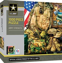 MasterPieces U.S. Army Jigsaw Puzzle, Army Strength, Featuring Art by Dona Gelsi - $49.45