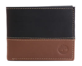 Timberland Men's Genuine Two Tone Leather Credit Card Billfold Commuter Wallet image 11
