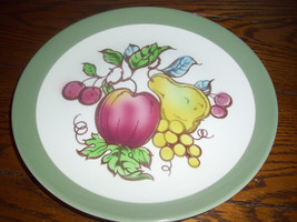 Homer Laughlin Serenade Fruits Apples Pear Berries Dinner Plates OVEN USA - $9.40