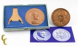 Medallic Art Company Comm Inaugural Bronze Medals President Nixon & Ford - $35.64