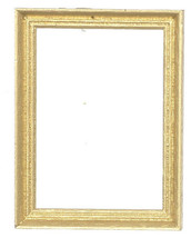 DOLLHOUSE MINIATURE 1 PC 59x78cm GOLD WOOD FRAMES #WA2997GD - $4.99