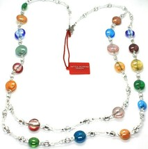 Necklace Antica Murrina Venezia CO905A38, Discs, Two Wires, Multicolour, 80 CM image 2