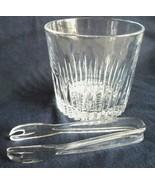Vtg 80s PRINCESS HOUSE Heavy Lead Clear Crystal Glass ICE BUCKET Acrylic... - $35.59