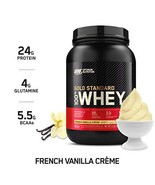 OPTIMUM NUTRITION GOLD STANDARD 100% Whey (2 Pound|French Vanilla Crème) - €27,94 EUR