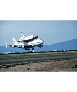 Space Shuttle Challenger on a Boeing 747 lands at Air Force base -New 8x... - $6.61