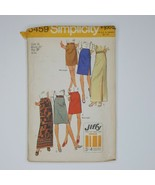 Simplicity 5459 Sewing Pattern 1970's Skirt Misses 14 Jiffy Easy Cut And... - $9.89