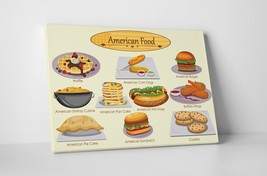 """American Food Dishes Kitchen Wall Art Gallery Wrapped Canvas. 30""""x20 or 20""""x16"""" - $44.50+"""