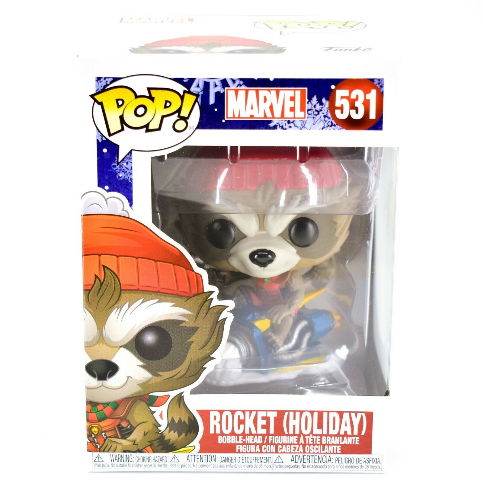 Funko Pop! Marvel Christmas Holiday Rocket Raccoon #531 Vinyl Bobble-Head Figure