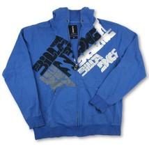 Billabong Mens Blue Full Zip Graphic Hoodie Surfer Sweatshirt Size X-Large - $14.84