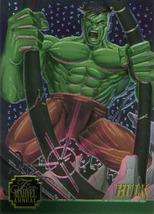 Marvel Flair Annual '95 - Chromium 5 of 12 - Hulk - $2.99