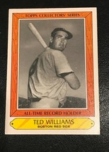 1985 Topps All Time Record Holder Woolworth Ted Williams Boston Red Sox - $1.24