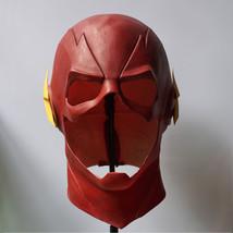 The Flash Mask With Zipper Cosplay Helmet Red Latex Full Head Mask Halloween - $41.99