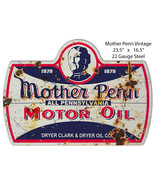 Aged Looking Mother Penn Oil Laser Cut Out Of Metal Reproduction Sign 16.5x23.5 - $46.53