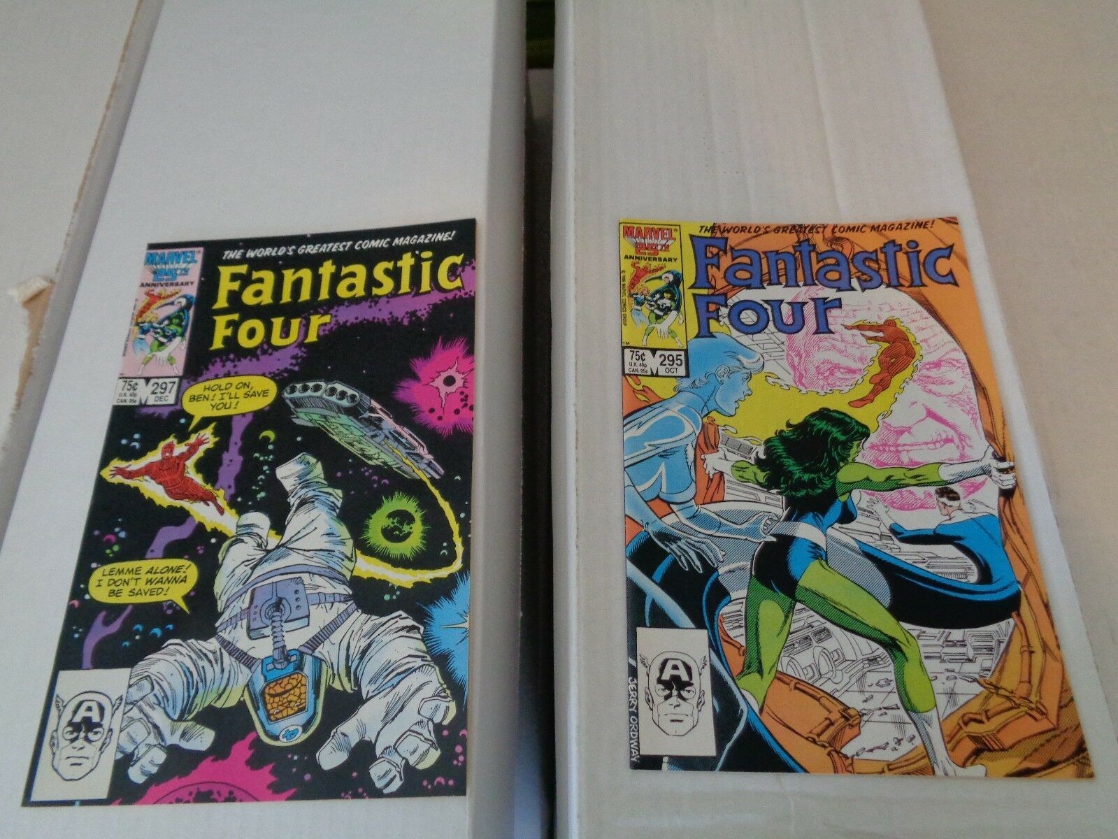 Fantastic Four 286-297 1986 Complete Run Of 12 VF+ Condition Marvel Comic Book