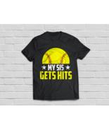 My Sis Gets Hits TShirt-Brother & Sister Softball Shirt - €16,72 EUR