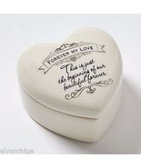 Wedding trinket ceramic  box Insignia New in satin lined gift box - $12.47