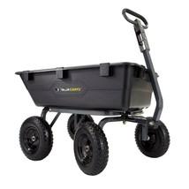 Garden Dump Cart 1200 Lbs Capacity Black Convenient Functional Heavy Dut... - $147.38