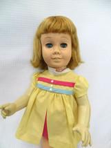 Vintage Chatty Cathy Doll Blonde Hair Blue Eyes Soft Face + Nursery School Dress - $41.58