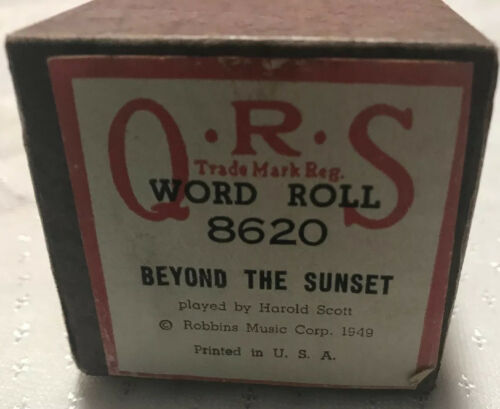Primary image for New QRS Piano Word Music Roll 8620 Beyond The Sunset played by Harold Scott