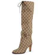 Gucci Lisa GG Canvas Knee Boots Size 36 MSRP: $1,290.00 - $1,050.00